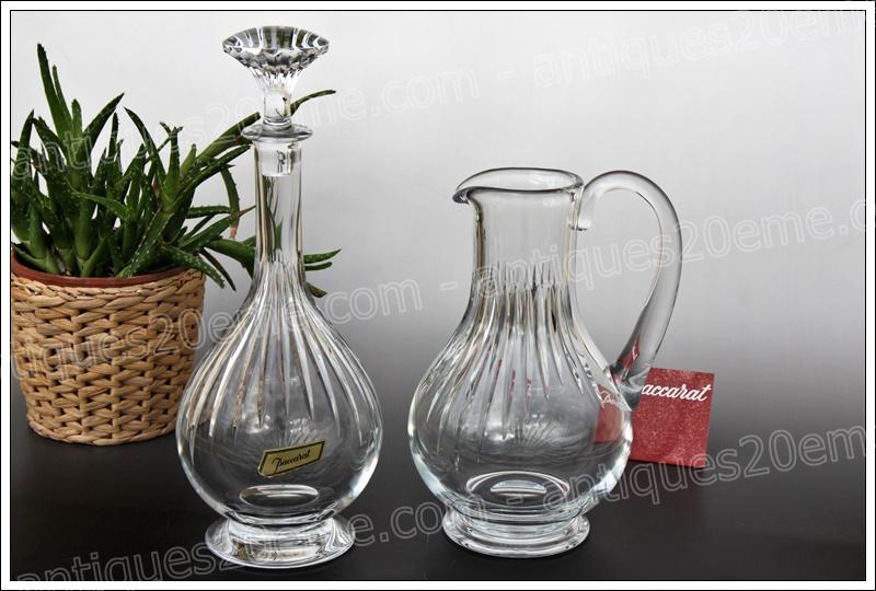 Pichet et carafe cristal Baccarat Massena