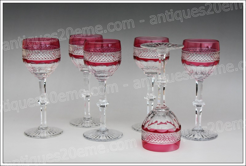 Verres Roemer cristal St Louis Trianon