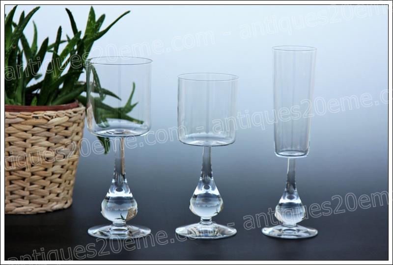 Verres service cristal Baccarat José