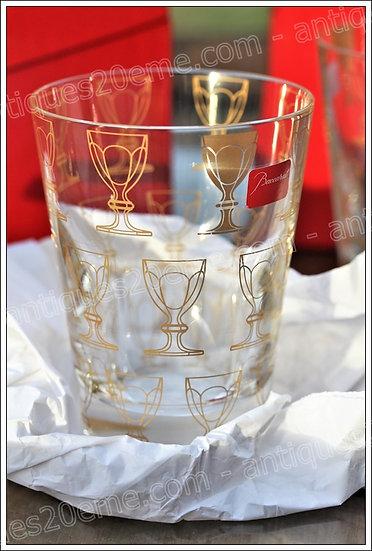 Gobelet verre du service en cristal Baccarat Apparat, Baccarat crystal tumbler glass design Studio 5.5