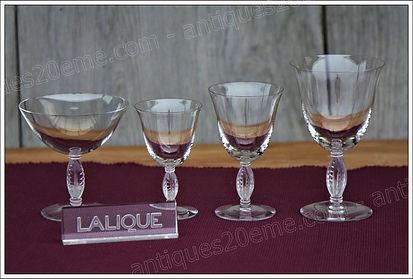 Service cristal Lalique Fontainebleau