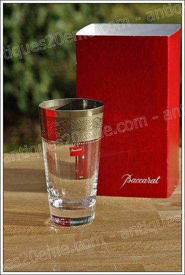 Verre chope à eau orangeade en cristal du service Baccarat Vendôme Platine, baccarat crystal highball glass