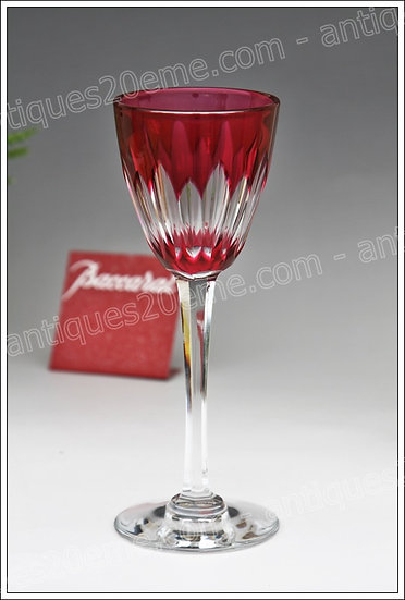 Verre à vin du Rhin en cristal du service Baccarat Cassino, Baccarat crystal wine hock Roemer glass
