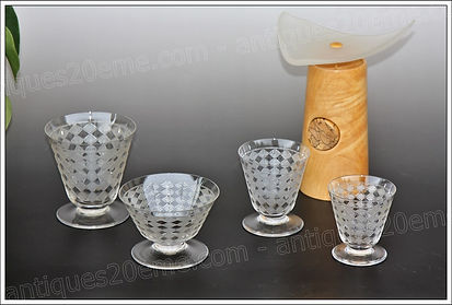 Baccarat crystal Quiberon model service glasses