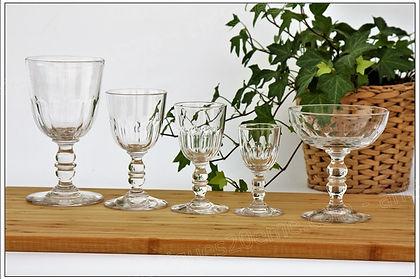Service verres cristal Baccarat modèle Clermont