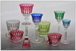 St.Louis Tommy crystal glasses, Roemers, cups