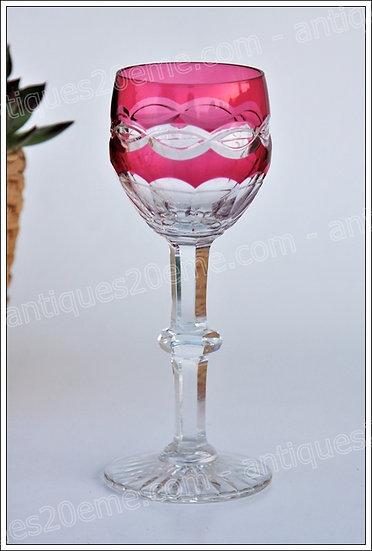 Verre à vin du Rhin en cristal de St Louis modèle service Trianon, St.Louis Trianon crystal Roemer glass wine hock
