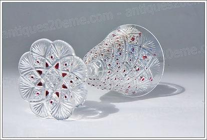 Verres cristal service modèle Baccarat Pau