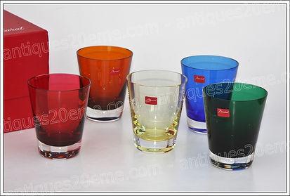 Verres gobelets cristal Baccarat modèle service Mosaïque