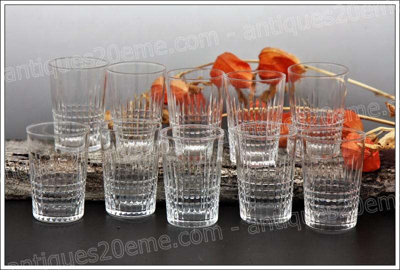 Verres gobelets cristal Baccarat Nancy