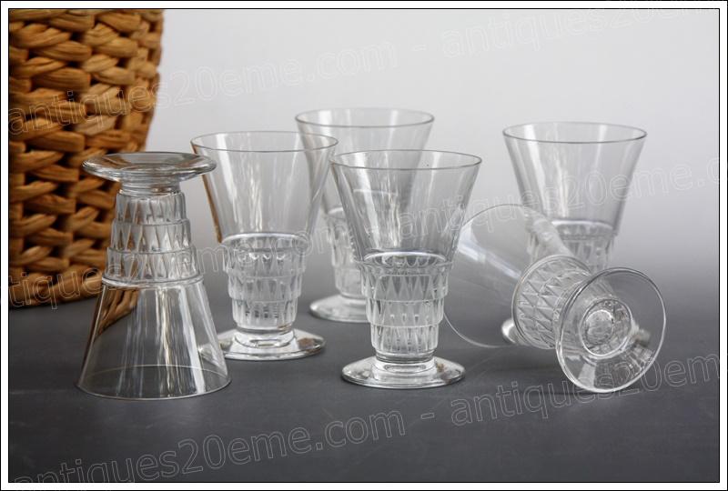 Service verres cristal Lalique Bourgueil