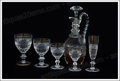 Verres service cristal Saint Louis Trianon