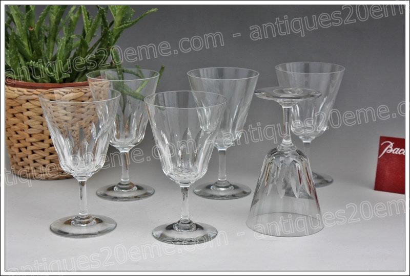 Verres à eau en cristal de Baccarat modèle service Côte d'Azur, Baccarat crystal water glasses