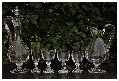 Verres service cristal Saint Louis Saint-Cloud