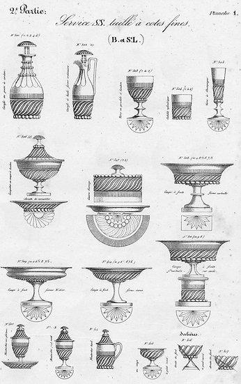 Catalogue des articles en cristal Saint-Louis Baccarat St Louis crystal