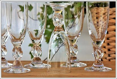 Verres cristal service Lalique Fréjus