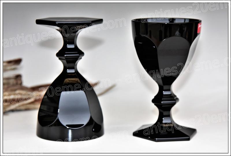 Verres à vin cristal noir Baccarat Harcourt Imparfait