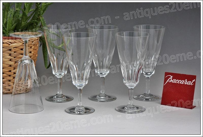 Flûtes à champagne en cristal de Baccarat modèle service Côte d'Azur, Baccarat crystal champagne flutes glasses