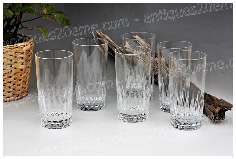 Chopes en cristal de Baccarat du service modèle Piccadilly, Baccarat crystal highball glasses
