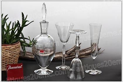 Verres carafe cristal de Baccarat service modèle Onde