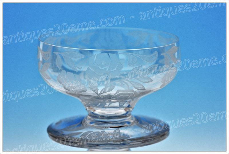 Coupe verre à champagne en cristal de Baccarat service modèle Fontenay, Baccarat crystal champagne glass