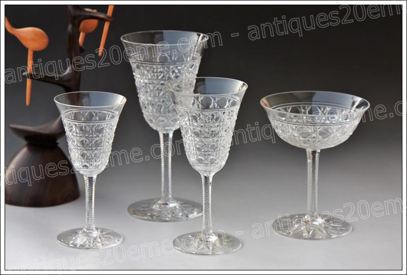 Verres service cristal Baccarat Pontarlier