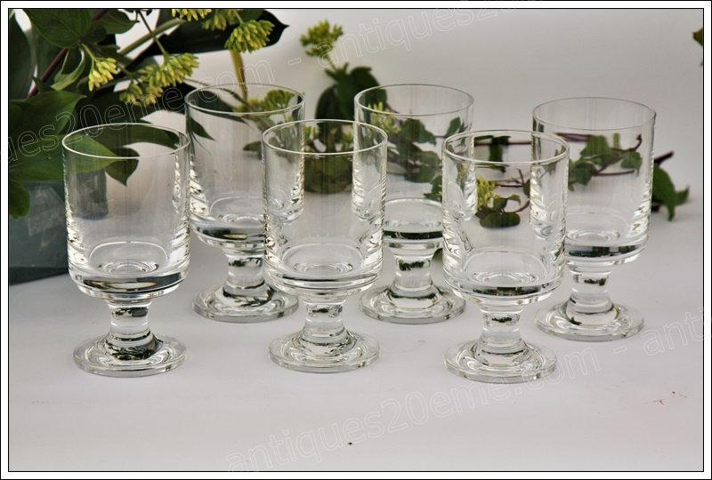 Verres à eau en cristal du service Baccarat Diabolo, Baccarat crystal water glasses