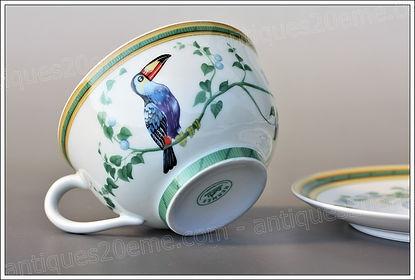 Céramique Hermès, porcelaine faïence assiettes tasses plats soupière