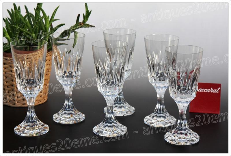 Verres cristal Baccarat d'Assas