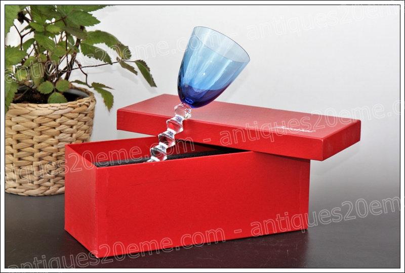 Verre à vin du Rhin cristal de Baccarat modèle service Vega, Baccarat crystal Roemer glass wine hock