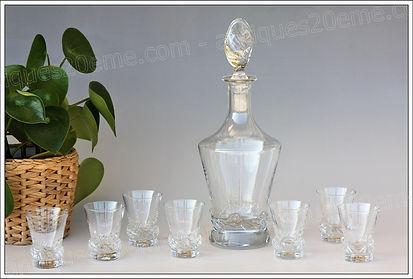 Services à liqueur cristal Daum, Daum crystal liquor cordial services