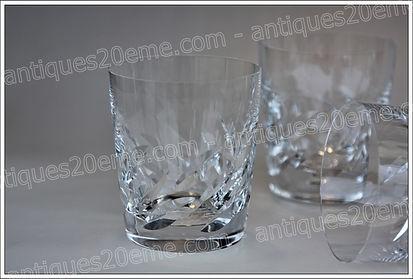 Verres cristal Lalique Artois, Lalique Artois crystal glasses