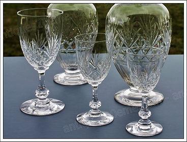 Verre service cristal Saint Louis Massenet