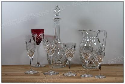 Verres service cristal St Louis Chantilly