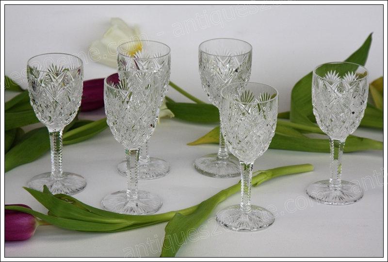 St Louis Florence 6 verres à vin n°4 - 6 Bordeaux wine glasses set