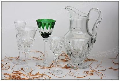 Verres service cristal Saint Louis Provence