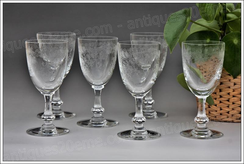 Verres cristal St.Louis Cléo