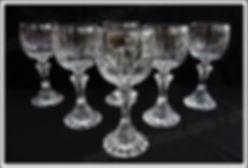 Verres service cristal St Louis Fontainebleau