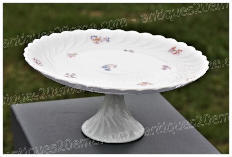 Plat à piédouche en porcelaine de Limoges Haviland, Limoges Haviland porcelain pedestal dish