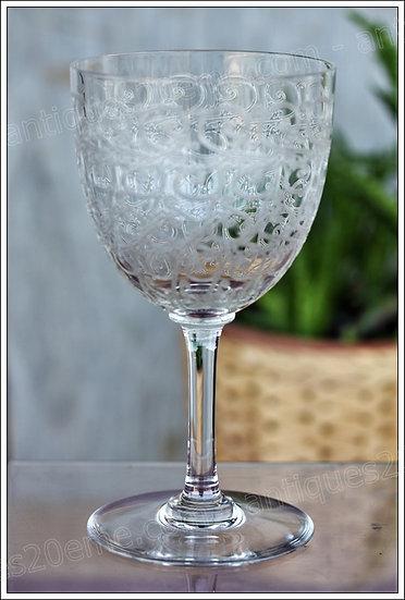 Verre à eau en cristal de Baccarat modèle Combourg Rohan, Baccarat crystal water glass