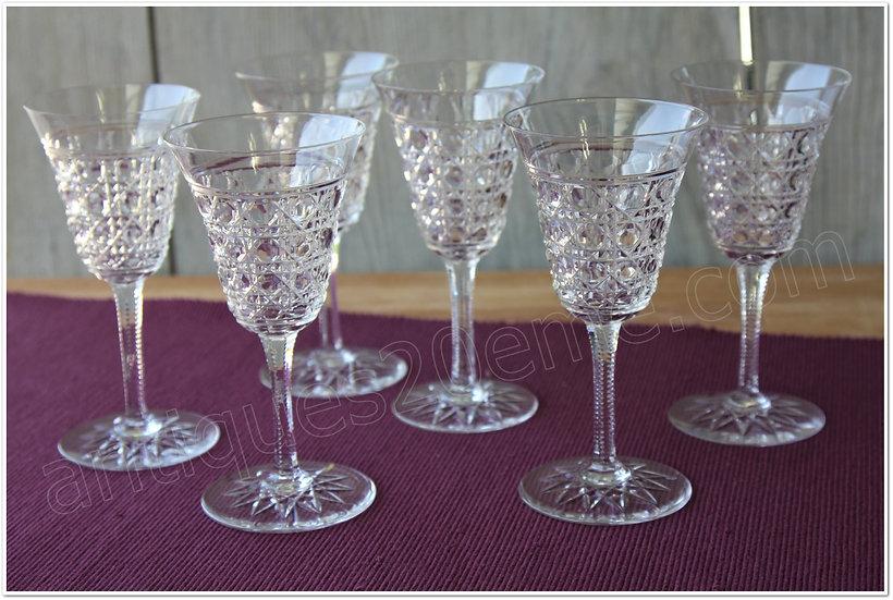 Verres à eau en cristal de Baccarat modèle service Pontarlier, Baccarat crystal water glasses