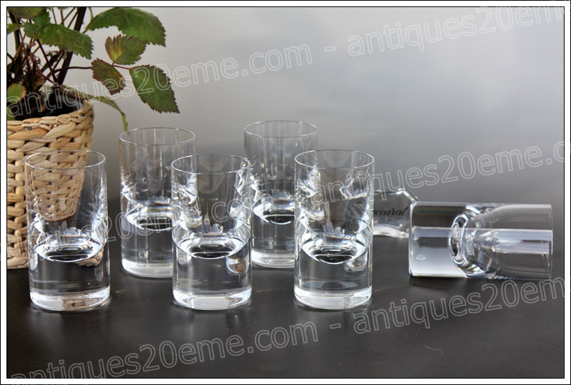 Verres à vin en cristal du service Baccarat Tir table, Baccarat crystal wine glasses