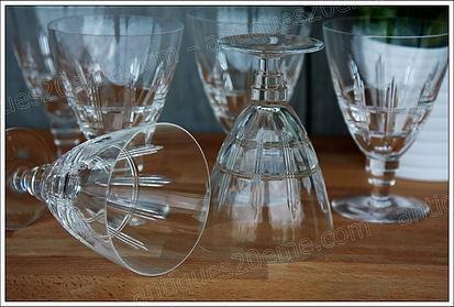 Verres service cristal St Louis Atlanta