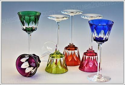 Verres cristal Baccarat modèle service Caracas