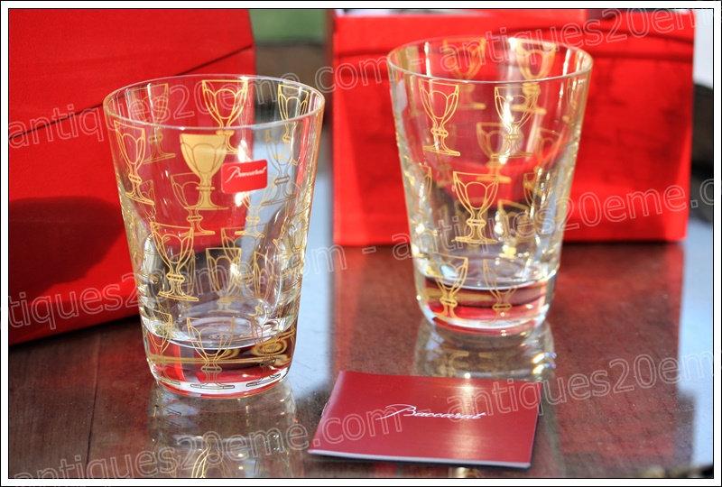 Gobelets verres du service en cristal Baccarat Apparat, Baccarat crystal tumblers glasses design Studio 5.5