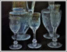 Verres du service cristal Saint-Louis Cosmos