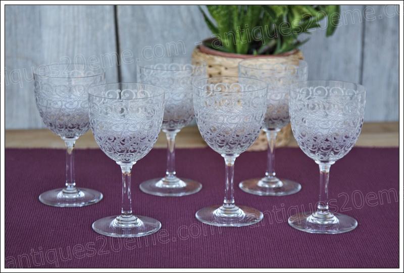 Service verres cristal Baccarat Combourg