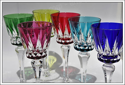 Verres service cristal St Louis Guernesey