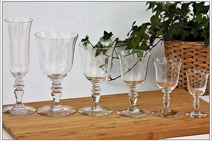 Verres cristal service Baccarat Vence