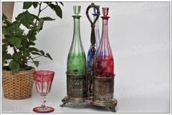 Cabaret carafes cristal Baccarat Christofle